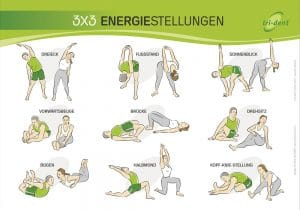 Illustrated poster: training exercises