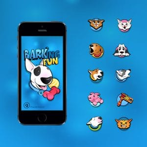 Cartoon icons for an iPhone app